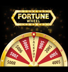 gold realistic wheel of fortune 3d object isolated vector image