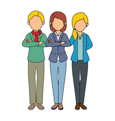 group of people icon vector image