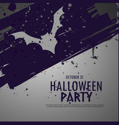 grunge halloween party celebbration background vector image