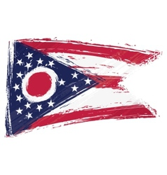 Grunge Ohio flag vector image