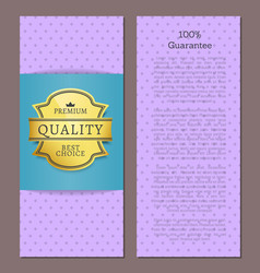guarantee premium best choice exclusive quality vector image