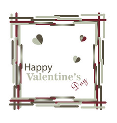 happy valentines day typography design with paper vector image