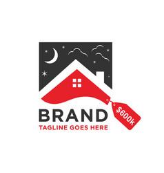 home sales logo design vector image
