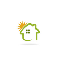 home summer sunny logo vector image