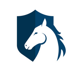 Horse head logo template design vector