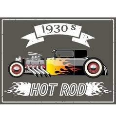 Hot rod car vector