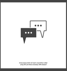 icon cloud with thoughts with three dots vector image