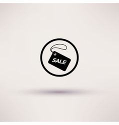 Icon of sale tag Isolated vector image