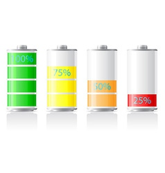 icons charge battery 03 vector image