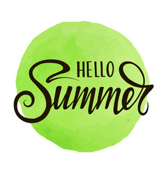 inscription hello summer vector image