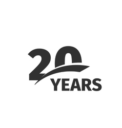 Isolated abstract black 20th anniversary logo vector