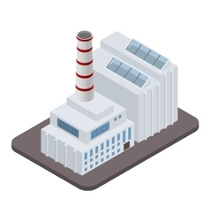 isometric industrial factory buildings icon vector image