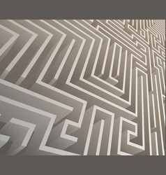 Isometric intricacy labyrinth maze background 3d vector