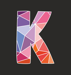 K low poly wrapping surface pastel colorful vector