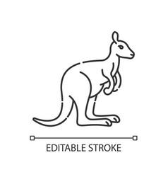 Kangaroo pixel perfect linear icon vector