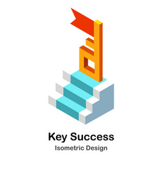 Key to success isometric vector