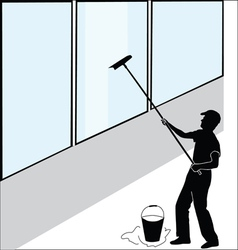 Large window washer vector image