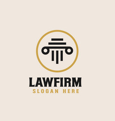 law firm logo design template vector image