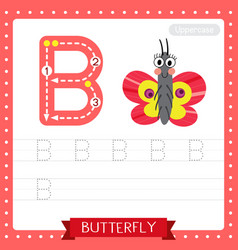Letter a uppercase tracing practice worksheet vector