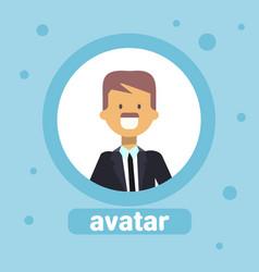 male profile avatar businessman icon user image vector image