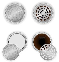 manhole 08 vector image