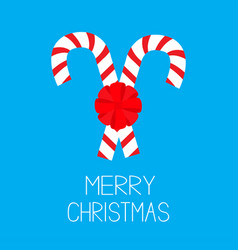 merry christmas candy cane two peppermint stick vector image