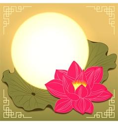 Mid autumn festival lotus flower vector