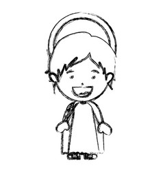 monochrome blurred silhouette of child jesus vector image