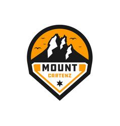 mount cartenz logo in papua vector image