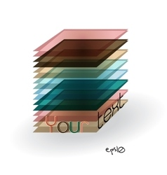 Multicolor abstract logo rectangle vector image