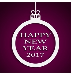 New Year Violet Background Christmas Ball 2017 vector