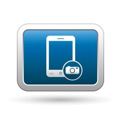 Phone with camera menu icon vector