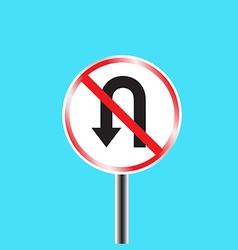 Prohibitory traffic sign u turn prohibited vector image
