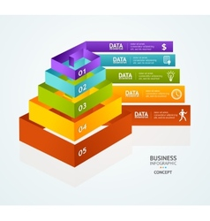 Pyramid chart for infographics design vector image