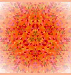 Round triangle kaleidoscope mandala background vector