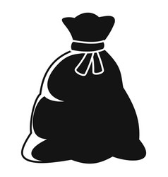 santa sack icon simple style vector image