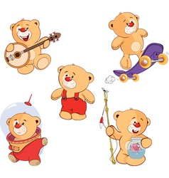 Set of bears cartoon vector