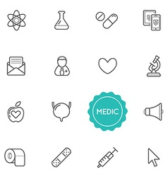 Set of medical hospital elements can be used as vector