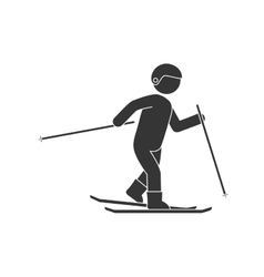 skier sport extreme vector image