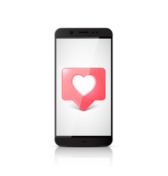 social media like icon notifications on phone vector image