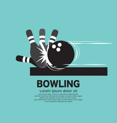steps playing bowling symbol vector image