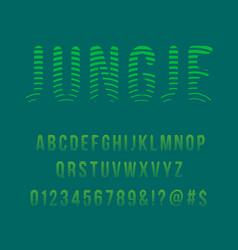 striped jungle modern font vector image