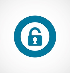 unlock bold blue border circle icon vector image