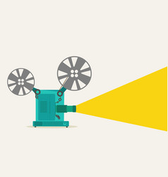 vintage movie projector vector image