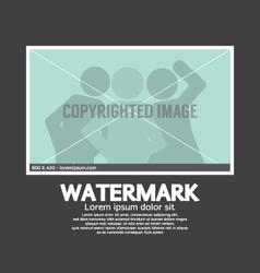 Watermark Sign On Photo vector