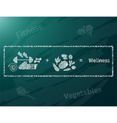 Wellness math vector