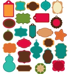 Advent Calendar - tags labelselements vector image vector image