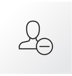 delete icon symbol premium quality isolated vector image