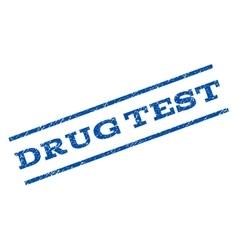 Drug test watermark stamp vector