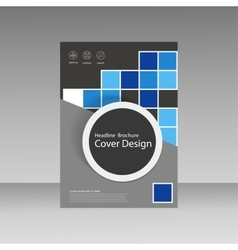 Abstract brochure template design with squares and vector image